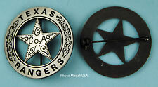 Souvenir Old West TEXAS RANGER CO A police law Badge SL 0727
