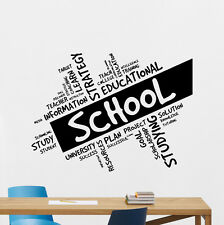 School Wall Decal Education Motivation Vinyl Sticker Art Poster Decor 334xxx