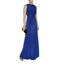 REISS Montana High Cowl Neck Maxi Blue Bridesmaid Prom Dress UK10/USA6 $520
