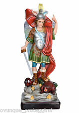 Saint Michael fiberglass statue cm. 90 with glass eyes