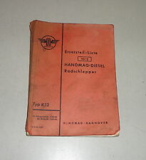 Teilekatalog / Ersatzteilliste Hanomag Radschlepper R12 Stand 08/1955