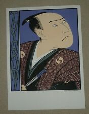 """Lithograph.RICE Paper.Large.Asian Art.30"""".TOYOKUNI.NEW.Japanese Fine Art.Limited"""