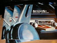 AUTORADIO AUTOVOX 1972  Brochure -autoradio -giranastri