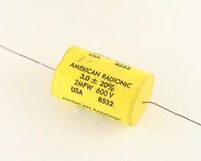 New 5x 3uF 600V DC Metallized Polyester Axial Capacitor VDC Metalized 3mfd