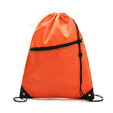 Girl Boy Kid Drawstring Swim Sports Shoe Dance School Bag Backpack PE Gym Orange