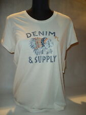 "°° RALPH LAUREN DENIM & SUPPLY °° T-SHIRT ""Indian Head tè"" Taglia L Crema ~~ NUOVO ~~"