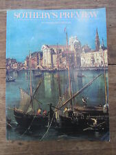 CATALOGUE VENTE AUX ENCHERES SOTHEBY'S PREVIEW NOVEMBRE DECEMBRE 1989