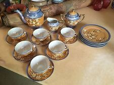 Antique TASHIRO SHOTEN Japan Tea Dessert Set Lusterware 23 Piece Porcelain