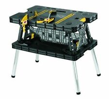Folding Work Table Bench Portable Station Wood Clamps Job Leg Mobile Cut Keter