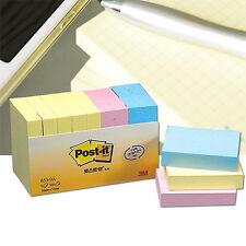 """9 Pads x 3M POST-IT 653-9A 1.5x2"""" 38x51mm Notes Notas Paste Memo Pads 3 Colors"""