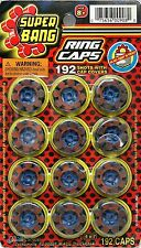 Super Bang Ring Caps 192 Shots With Cap Covers •••FREE SHIPPING••• FOR TOY GUNS
