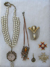6 PIECES STEAMPUNK OR OTHER COSTUME JEWELRY...DRESS IT UP
