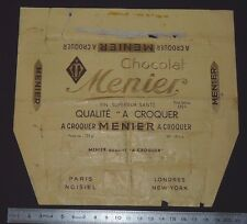 EMBALLAGE TABLETTE CHOCOLAT MENIER A CROQUER PARIS NOISIEL LONDRES NEW-YORK