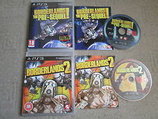 2 Sony Playstation 3 / PS3 Games - Borderlands The Pre Sequel & Borderlands 2