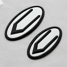 C Logo White Black Emblem Front + Rear 2 Type For KIA K5 Optima 2011-2015
