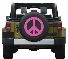 "32"" Peace Sign Tire Cover - Pink - Jeep Wrangler JK - USA"