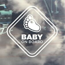 INTERNAL USE Baby On Board / New Baby Car Sticker. Baby Foot