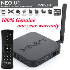 MINIX NEO U1 Android 5.1  4K Smart TV Box  With Minix A2 Lite Air Mouse Keyboard