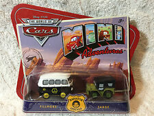 Disney The World Of Cars Mini Adventures Fillmore & Sarge Police Dept NEW 2010