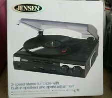 Jensen JTA-230 3-Speed Stereo Turntable with Built-in Speakers