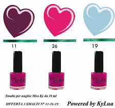 Kit 3 SMALTI Pastello NEW SUMMER COLLECTION KyLua Made in Italy Nail Polish Art