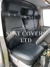 TO FIT A VW TRANSPORTER T5 VAN SEAT COVERS - SWB, EBONY BLACK LEATHERETTE