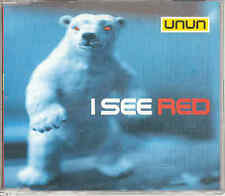 Unun - I See Red, UK 3-Track CD, Ex - Sugarcubes