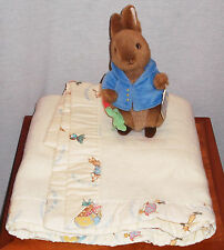 "BEAUTRIX POTTER"" THE TALE OF PETER RABBIT"" BLANKET AND PLUSH STUFFED TOY NEW"
