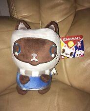 A estrenar con las etiquetas oficial Canimals Fizzy el gato Beanie Suave Juguete Por Namco