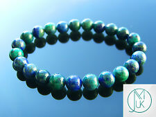 Chrysocolla Natural Gemstone Bracelet 7-8'' Elasticated Healing Stone Chakra