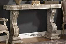 FARMHOUSE CONSOLE SOFA TABLE ANTIQUE STONE CORBEL ENTRY FOYER FRENCH COUNTRY NEW