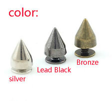 100 x Punk Spike Cone Screw Back Studs/Rivets - BRASS - 7mm x 9.5mm Fashion cool