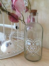 Vintage Glass Bottle Cork Stopper Bud Flower Vase Wedding Table Heart Decoration