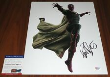 Paul Bettany Signed 11x14 Avengers Age of Ultron Vision Jarvis PSA/DNA