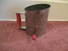Vintage  Bromwell's Screen Aerator Sifter with Red Handle