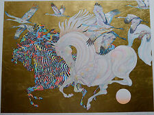 GUILLAUME AZOULAY SERIGRAPH LE VOL DES GRUES SIGNED #14/100 W/COA