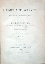 1883 – WILKIE COLLINS, HEART AND SCIENCE, LETTERATURA INGLESE ENGLISH LITERATURE