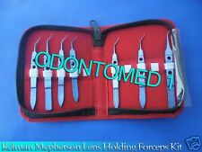 Kelman Mcpherson Lens Holding Forceps Set Of 7 Pcs Titanium Instruments