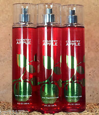 3 BATH AND BODY WORKS Fragrance Mist Splash Spray COUNTRY APPLE SCENT 3 BOTTLES