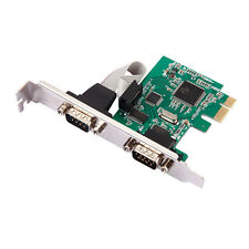 2 Port RS-232 Serial Port COM para PCI-E PCI Express Card Adapter Converter 1pc