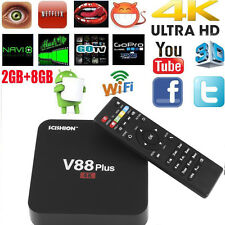 V88 Plus Android 5.1 Quad Core 2G 8G Smart TV Box WIFI H.265 4K KOD 16.1