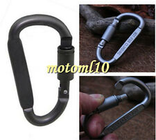 Top!BLACK Practical Keychain Lock Clip Hook Outdoor Buckle Aluminum Carabiner Mo