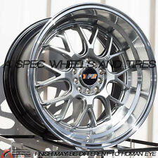 18X9.5 18X10.5 HYPER BLACK F1R F21 5X114.3 WHEEL FIT INFINITI G35 G37 STAGGERED