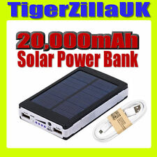 20000mAh Solar Power Bank Cargador Batería Móvil USB para iPhone iPad Panel UK