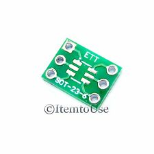 10 x SOT-23 6 PIN 0.95mm to DIP 6 PIN 7.62mm Pitch Adapter PCB SMD Convert SOT23