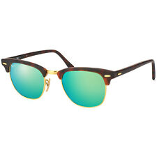 Ray Ban RB3016 114519 Clubmaster Tortoise Frame Green Mirror 51mm Lens Sunglass