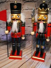 WOODEN SOLDIERS TABLE DECORATION GERMAN MARKET BAVARIAN NUT CRAKER ORNAMENT