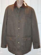 WEATHERPROOF MEN'S BARN JACKET LARGE BROWN NWT COTTON MSRP $198 Ships Free