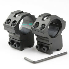 """2Pcs Low Profile Rifle Scope Mount Rings 1"""" / Dovetail Rail 3/8"""" 11mm Tactical"""