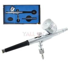 Dual Action Gravity Airbrush Spray Gun 0.2mm 7cc Air Brush Paint Craft Body Art